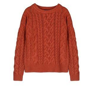 525 America Orange Braid Front Sweater